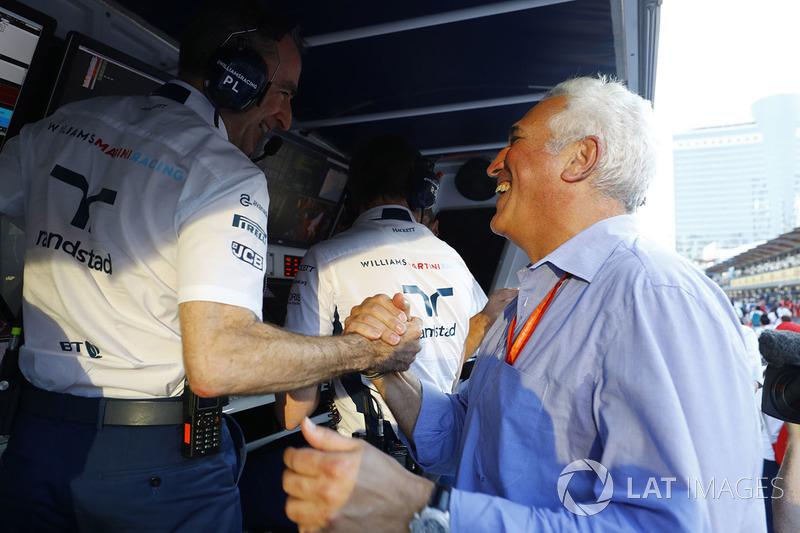 Paddy Lowe, Williams-Technikchef, mit Lawrence Stroll, Vater von Lance Stroll