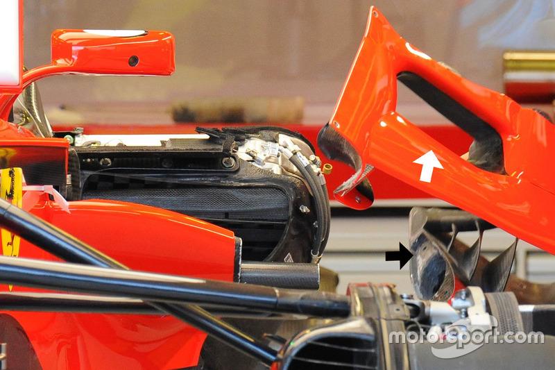 Ferrari SF70H sidepod entrada