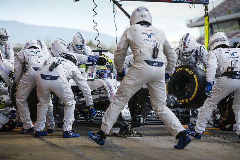 Práctica de pitstop de Felipe Massa, Williams FW40