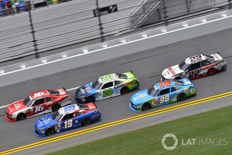 Ryan Reed, Roush Fenway Racing Ford, Matt Tifft, Joe Gibbs Racing Toyota, Erik Jones, Joe Gibbs Racing Toyota AND Joey Logano, Team Penske Ford