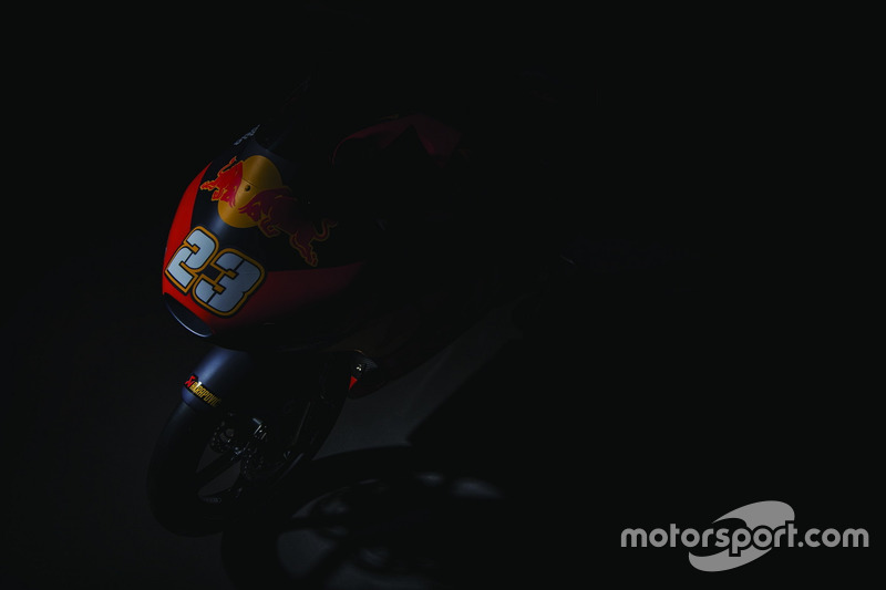 The bike of Niccolo Antonelli, Red Bull KTM Ajo