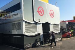Hospitality van Haas F1 Team