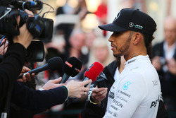 Lewis Hamilton, Mercedes AMG F1 W08 walks the circuit with the media