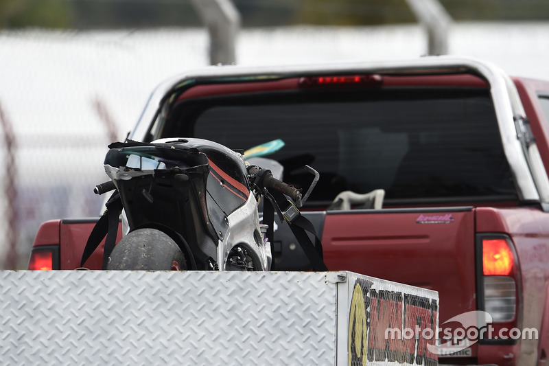 Bike von Danny Kent, Kiefer Racing, nach Sturz