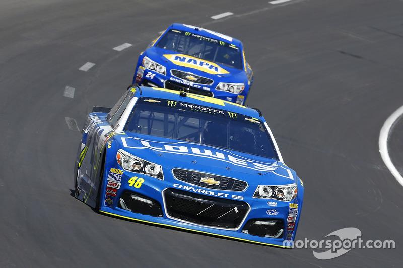 Jimmie Johnson, Hendrick Motorsports, Chevrolet; Chase Elliott, Hendrick Motorsports, Chevrolet