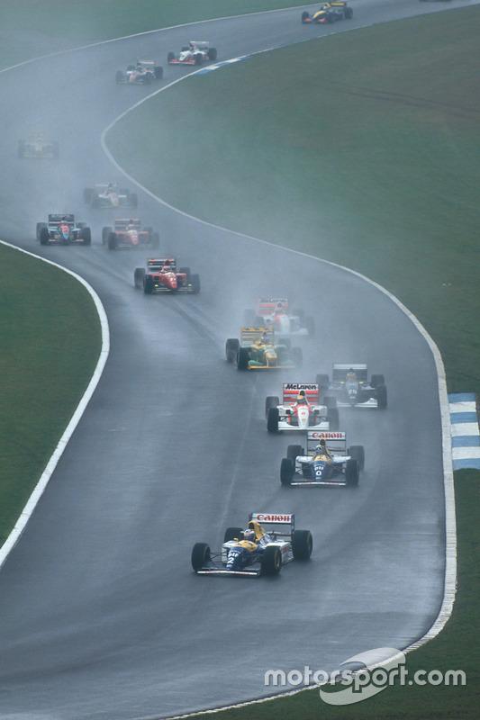 Alain Prost, Williams FW15C Renault, Damon Hill, Williams FW15C Renault, Ayrton Senna, McLaren MP4/8 Ford