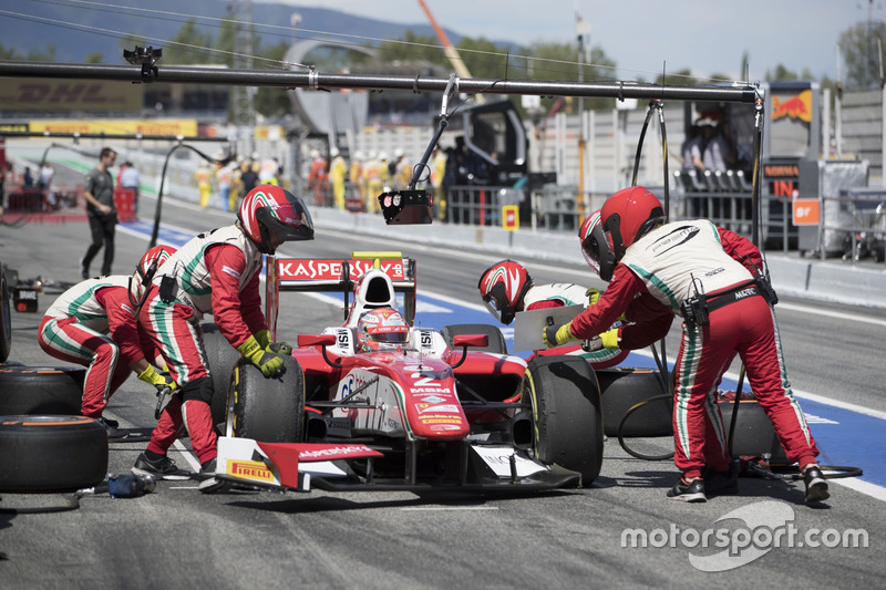 Antonio Fuoco, PREMA Powerteam pitstop during the race