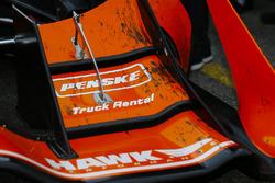 Detalle del coche ganador de Josef Newgarden, Team Penske Chevrolet