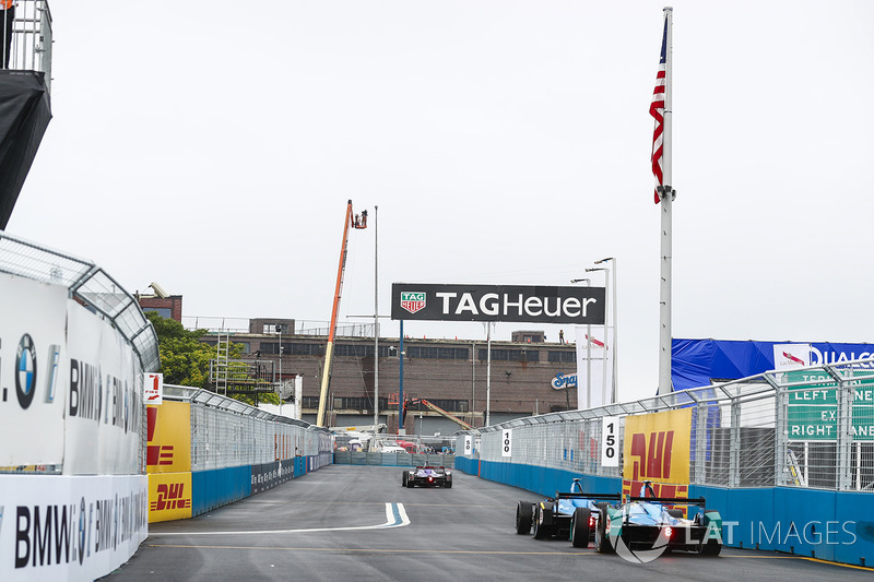 Pierre Gasly, Renault e.Dams, lidera a Antonio Felix da Costa, Amlin Andretti Formula E Team