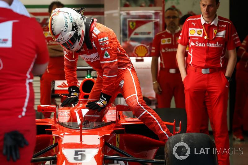 Sebastian Vettel, Ferrari SF70H, kokpit koruması