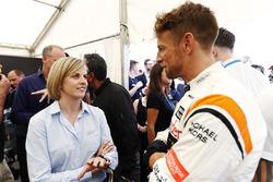 Former racer Susie Wolff talks, Jenson Button, McLaren
