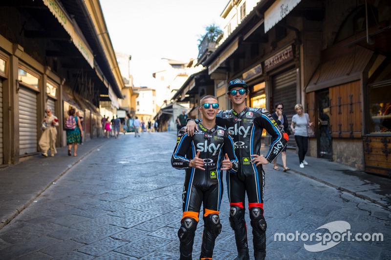 Andrea Migno, SKY Racing Team VR46; Francesco Bagnaia, SKY Racing Team VR46