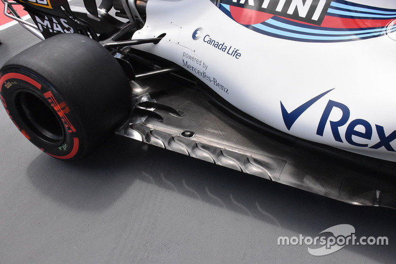 Williams FW40 floor detail
