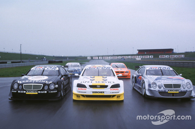 Mercedes AMG CLK DTM, HWA AG and Opel Astra DTM
