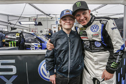 Petter Solberg, PSRX Volkswagen Sweden, VW Polo GTi with his son Oliver Solberg