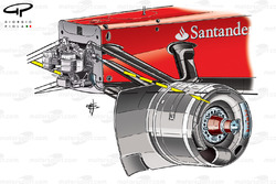 Ferrari F2012 chassis and suspension detail