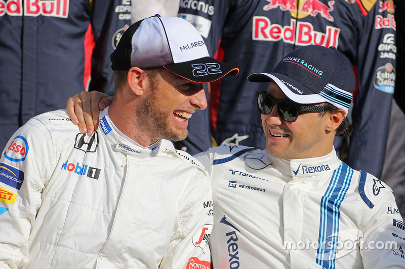 Jenson Button, McLaren F1 und Felipe Massa, Williams F1 Team