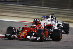 Kimi Raikkonen, Ferrari SF70H, leads Felipe Massa, Williams FW40