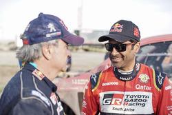 Nasser Al-Attiyah, Toyota Gazoo Racing, Carlos Sainz, Peugeot Sport