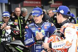 Tweede plaats Maverick Viñales, Yamaha Factory Racing, Marc Marquez, Repsol Honda Team