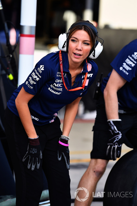 Федеріка Мазолін, Sky Italia, Sahara Force India