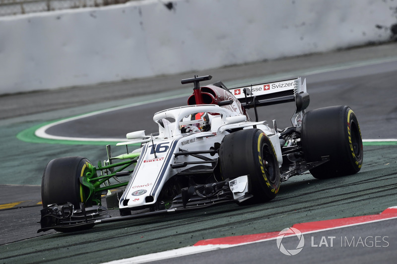 Charles Leclerc, Alfa Romeo Sauber C37, aero paint on front suspension