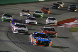 Kyle Busch, Joe Gibbs Racing, Toyota Camry NOS Energy Drink,Ryan Reed, Roush Fenway Racing, Ford Mustang Drive Down A1C Lilly Diabetes and Cole Custer, Stewart-Haas Racing, Ford Mustang Haas Automation