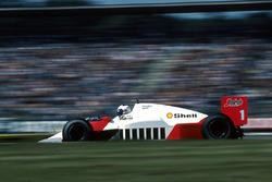 Alain Prost, McLaren MP4/2C, 6e plaats, heeft geen brandstof meer