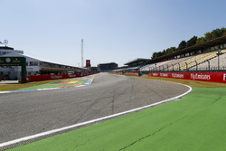 A view of the pit straight and first corner