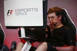 Brendon Leigh celebrates after winning the E-Sports event