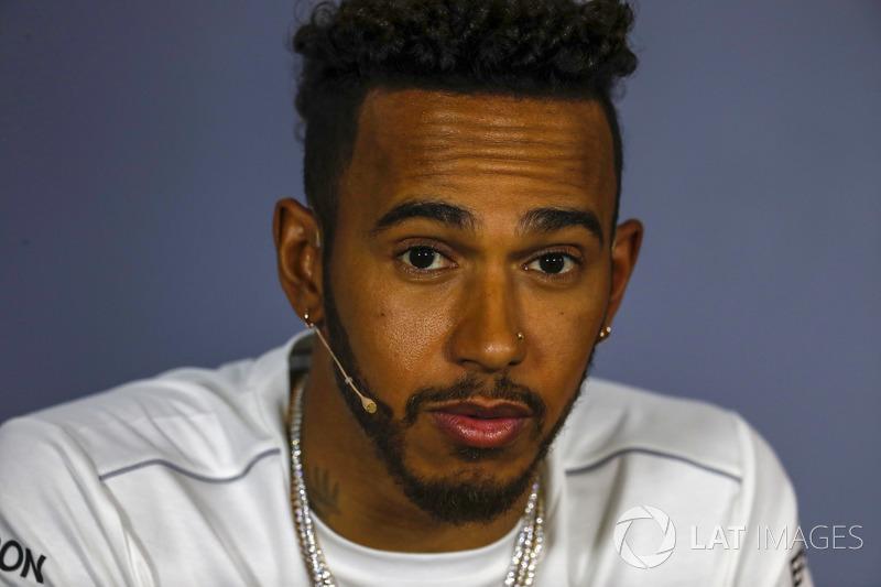 Lewis Hamilton, Mercedes AMG F1, lors de la conférence de presse