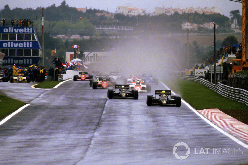 Ayrton Senna, Lotus 97T mène au départ