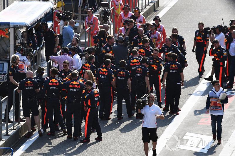 Red Bull Racing celebrate