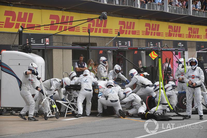 Sergey Sirotkin, Williams FW41, pit stop