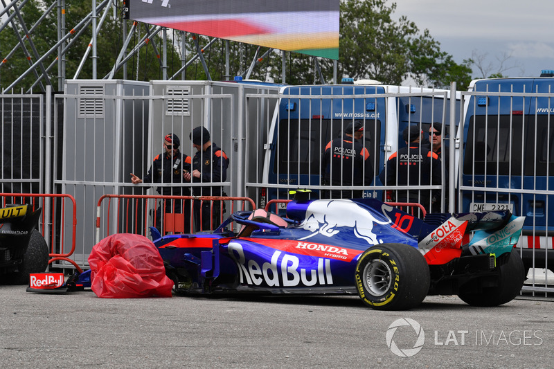 Gasly wasn't too impressed with Grosjean