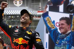 Daniel Ricciardo, Red Bull Racing y Michael Schumacher, Benetton