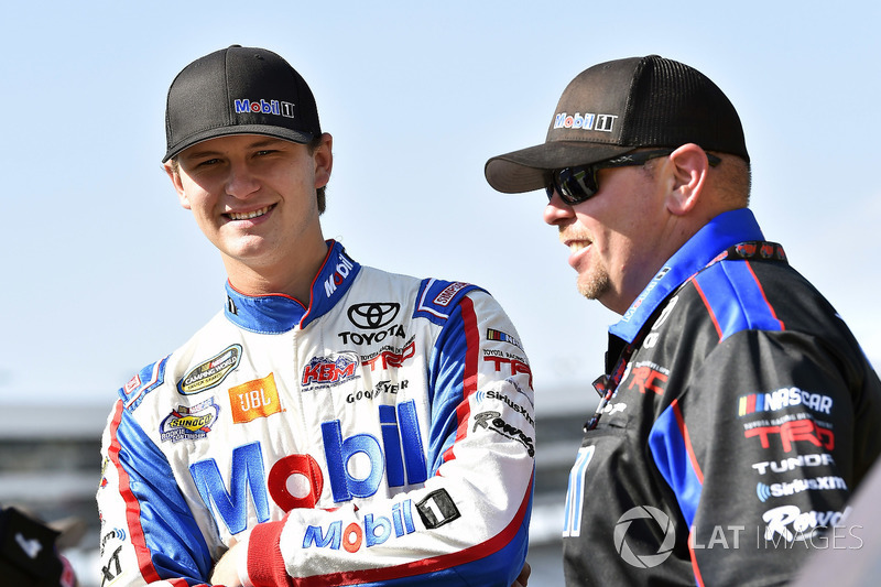 Todd Gilliland, Kyle Busch Motorsports, Toyota Tundra Mobil 1 and Marcus Richmond