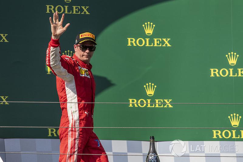 Podio: tercer lugar Kimi Raikkonen, Ferrari
