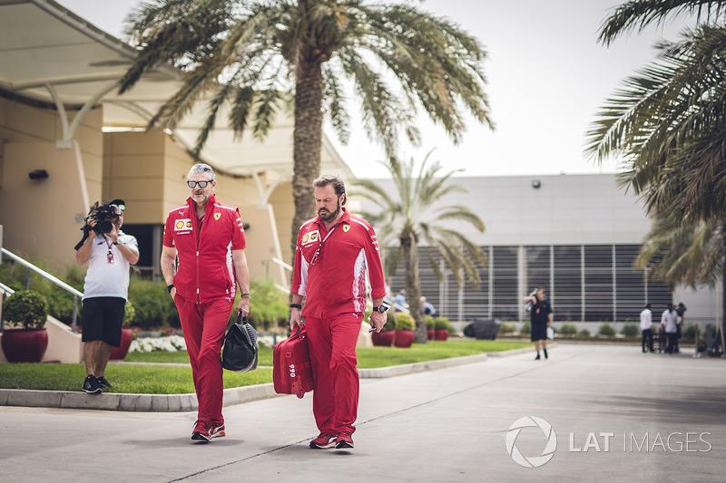 Maurizio Arrivabene, Ferrari Team Principal and Gino Rosato, Ferrari