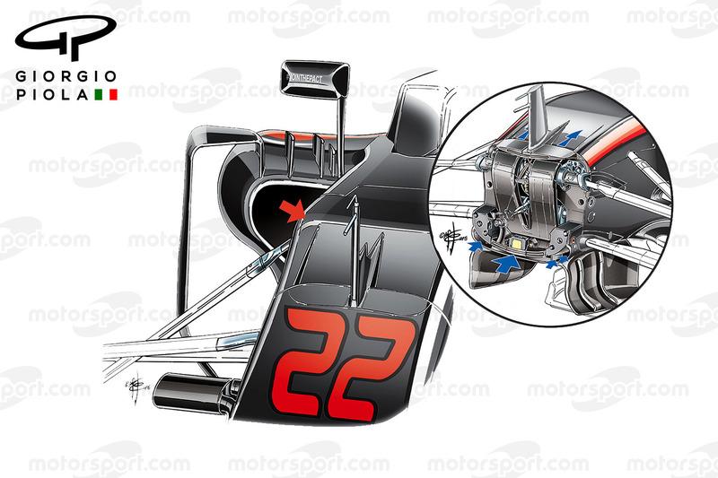 McLaren MP4-31 vs. MP4-30: S-Schacht, Vergleich