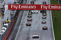 Restart hinter dem Safety-Car