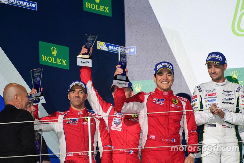 المنصة: المركز الثاني رقم 83 إيه إف كورس فيراري 458 جي تي إي: إيمانويل كولارد، روي آغواس، فرانسوا بيرودو