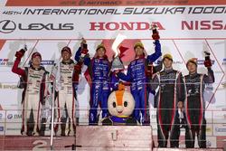 Podium GT300: race winners #61 R&D Sport Subaru BRZ: Takuto Iguchi, Hideki Yamauchi, second place #31 Apr Toyota Prius GT: Koki Saga, Yuichi Nakayama, third place #0 Gainer Nissan GT-R Nismo GT3: Andre Couto, Ryuichiro Tomita