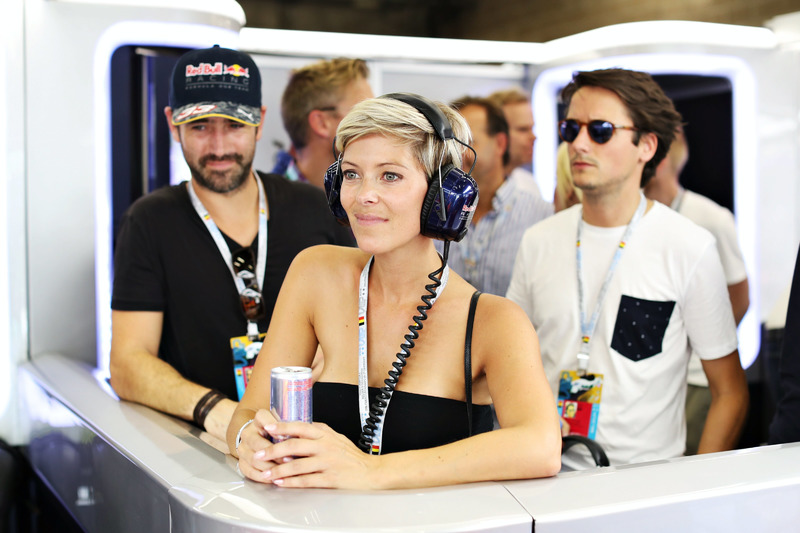 Hanne Troonbeeckx in the Red Bull Racing garage