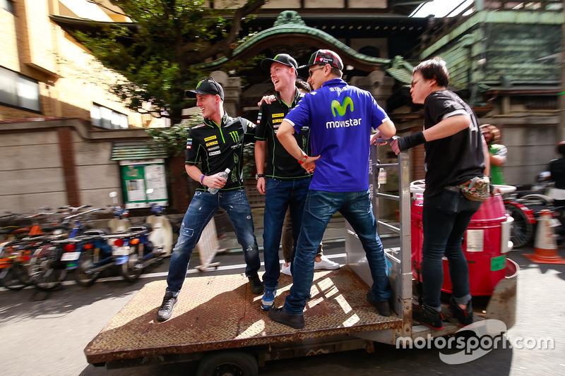 Pol Espargaro, Monster Yamaha Tech 3, Bradley Smith, Monster Yamaha Tech 3, Takaaki Nakagami, Honda Team Asia, Jorge Lorenzo, Yamaha Factory Racing