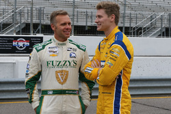 Ed Carpenter, Ed Carpenter Racing, Chevrolet; Josef Newgarden, Team Penske, Chevrolet
