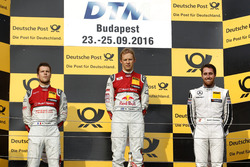 Podium: Race winner Mattias Ekström, Audi Sport Team Abt Sportsline, Audi A5 DTM; second place Adrien Tambay, Audi Sport Team Rosberg, Audi RS 5 DTM; third Daniel Juncadella, Mercedes-AMG Team HWA, Mercedes-AMG C63 DTM