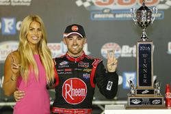 Race winner Austin Dillon, Richard Childress Racing Chevrolet with fiancée Whitney Ward