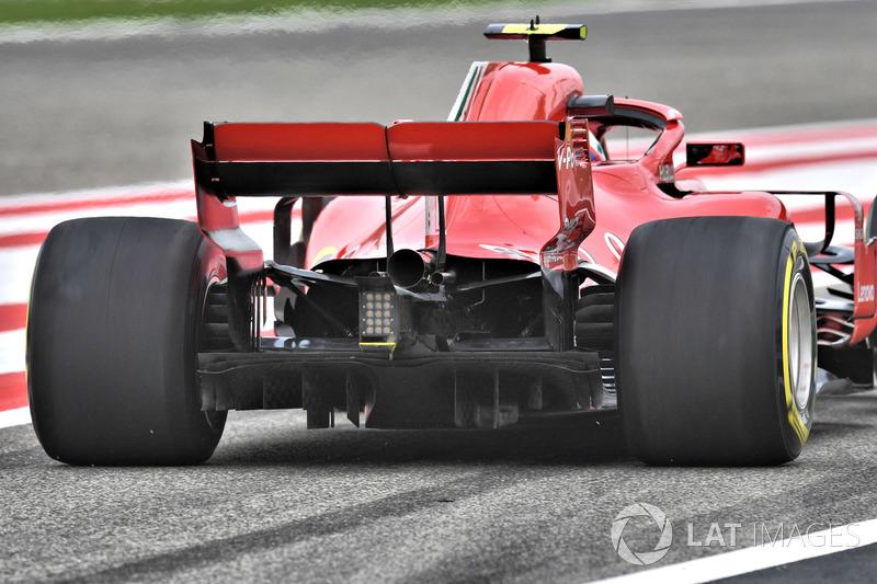 Arrière de la Ferrari SF71H de Kimi Raikkonen