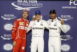 Top3 after qualifying: Pole position for Valtteri Bottas, Mercedes AMG F1, second place Lewis Hamilt